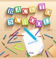 school supplies realistic template vector image