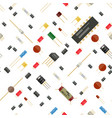 seamless electronic components pattern vector image