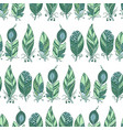 seamless pattern in marine colors with horizontal vector image vector image