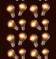 seamless texture with realistic light bulbs and vector image vector image