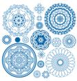 set blue circle 380 vector image vector image