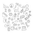 set hand drawn social doodles vector image vector image