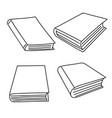 set of sketch books vector image
