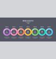 seven steps infographic timeline presentation vector image vector image