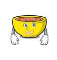 silent soup union mascot cartoon vector image vector image