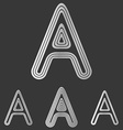 Silver line a logo design set vector image vector image