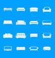 sofa chair room couch icons set simple style vector image vector image