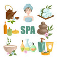 spa body relax and woman skincare treatments vector image vector image