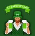st patricks day greeting card redhead irish man vector image vector image