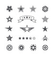 star icons and logos collection set icons vector image vector image