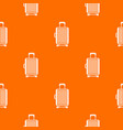 suitcase on wheels pattern seamless vector image vector image