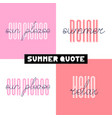 summer hand drawn brush font letterings summer vector image