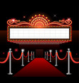 theater sign movie premiere vector image