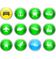 Transport round icons vector image