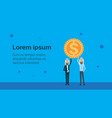 two arab businessman leader hold dollar coin vector image vector image