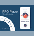 ux audio player templates vector image vector image