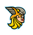 valkyrie warrior mascot vector image vector image