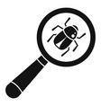 virus bug icon simple style vector image vector image