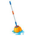 wet mop vector image