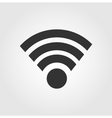Wi fi icon flat design vector image vector image