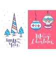 Christmas greeting card background poster vector image
