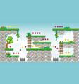2d tileset platform game 22 vector image vector image