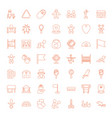 49 small icons vector image vector image