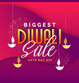 abstract biggest diwali sale banner design vector image vector image