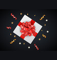 abstract gift box background with bow and ribbon vector image vector image