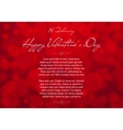 Abstract Red Blurred Valentines Day Background vector image vector image