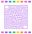 abstract square isolated labyrinth purple flowers vector image vector image