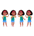 afro american girl black school student vector image vector image