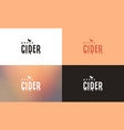 apple cider emblem template vector image vector image