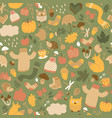 autumn green seamless pattern vector image