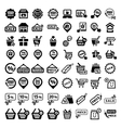 big shopping icons set vector image vector image