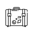 big suitcase line icon concept sign outline vector image vector image