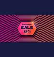black friday big sales trendy modern poster to vector image vector image