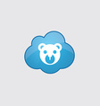 Blue cloud bear toy icon vector image vector image