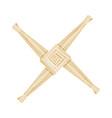 brigids cross made straw wiccan pagan symbol vector image
