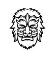 circus wolfman or wolfboy head mascot black and vector image vector image