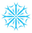 clipart of a snowflake or color vector image vector image