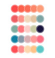 coral color sets vector image vector image