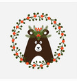 cute christmas card with a picture of a bear vector image vector image