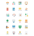 Database and Server Colored Icons 3 vector image vector image