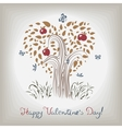 elegant valentines tree vector image