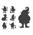 fairy tale fantastic gnome dwarf elf character vector image