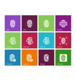 Finger access icons on color background vector image vector image