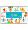 flat summer travel colorful concept vector image vector image