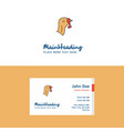 flat turkey logo and visiting card template vector image vector image