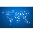 Global communications world map vector image vector image